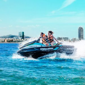 Enjoy the Barcelona\\\\\'s skyline from the water on a jet ski.